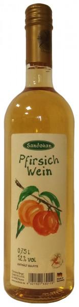Pfirsich-Wein