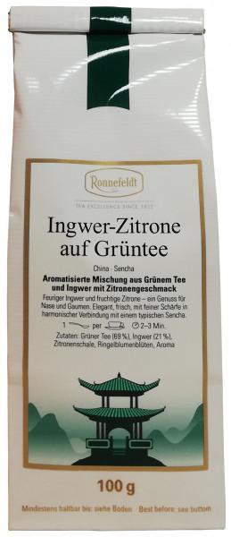 Ronnefeldt Ingwer- Zitrone auf Grüntee