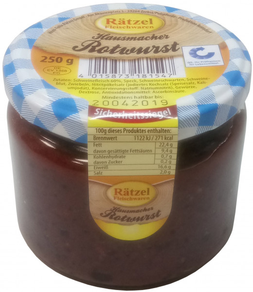 Hausmacher Rotwurst
